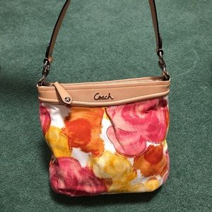 Coach Ashley Hippie Floral Crossbody Handbag Purse